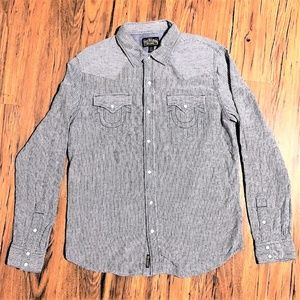 TRUE RELIGION Western Shirt 100% Cotton